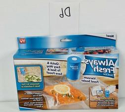 Always Fresh Seal Vac Vacuum Food Sealer With 6 Reusable Bag