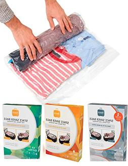 Travis Travel Gear Space Saver Bags. No Vacuum Rolling Compr