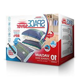 SpaceSaver Premium Jumbo Vacuum Storage Bags  Free Hand Pump