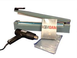 SealerSales SWK-16-04V VHS Shrink Wrap System w/ Heat Gun &