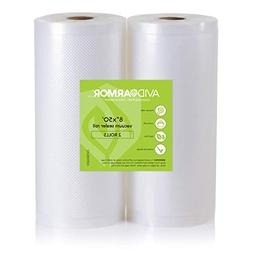 "Two 8""x50' Vacuum Sealer Bags Rolls for Food Saver, Seal a M"