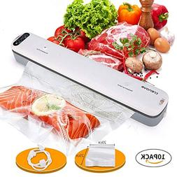 Crenova V62 Vacuum Sealer Food Savers Machine + 10 pcs Vacuu
