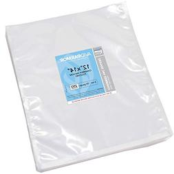 "Vacuum Chamber Pouches 12"" x 14"" Pack of 250 Heavy Duty 3-Mi"