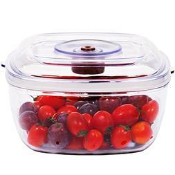 Vacuum Container for Vacuum Seal Food Storage , 2.1 QUART by