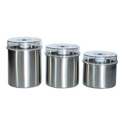 Avid Armor Vacuum Food Storage Canisters 3-Piece Set with St