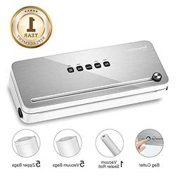 Bonsenkitchen Vacuum Sealer with Built-in Cutter & Roll Bag