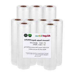 """Vacuum Sealer Bags, 6 Pack 8""""x16.5'+ 3 Pack 11""""x16.5'  Vacuu"""