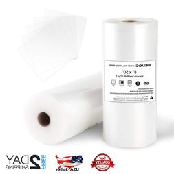Vacuum Sealer Bags 8x50 Rolls 2 pack for Food Saver, Seal a