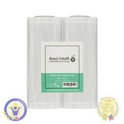 Nutri-Lock Vacuum Sealer Bags. 2 Pack Commercial Grade Rolls