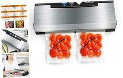 Vacuum Sealer Machine, 80Kpa Automatic Food Sealer with Cutt