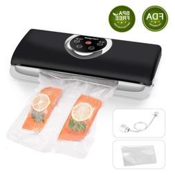 Homgeek Vacuum Sealer Machine, Food Vacuum Sealer with 4 in