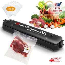 Vacuum Sealer Machine for Food Preservation with 15 Pcs Save