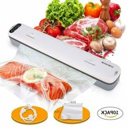 Crenova Vacuum Sealer Machine Meat Vegetable Fish Food Save