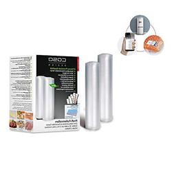 CASO Germany Vacuum Sealer Rolls, 7.9 by 236.2-Inch, Set of