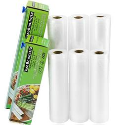 "KitchenBoss Vacuum Sealer Rolls 6 Pack 8""x16.5' and 11""x16.5"