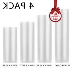 Cadamada Vacuum Sealer Rolls, Sous Vide Bags, Four ,11 Inch