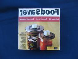 FoodSaver Vacuum Sealer Universal Lid Jar Canister Set 2 Acc
