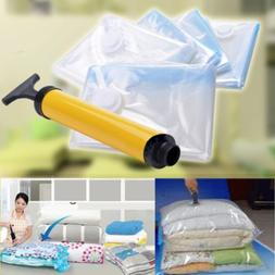 Vacuum Storage Bags Seal Space Saver Compression Clothes + V