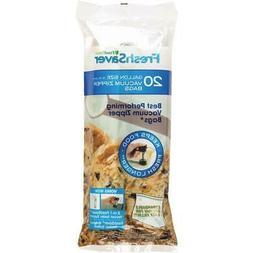 FoodSaver Vacuum Zipper Gallon Bags, 20 Count FSFRBZ0336-000