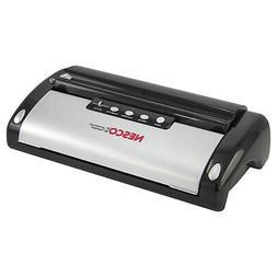 Nesco VS-02 130 Watt Vacuum Sealer, Black & Silver w/ Bag Cu