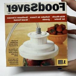 FoodSaver Wide Mouth Jar Sealer 03-0023-01 Accessory w/ Hose