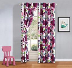 Window Misty Zebra Tween Teen Grommet Curtains With Ties 2 P
