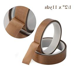 "1/2"" x 11yds PTFE Adhesive Tape PTFE Coated Fabric Teflon Ta"