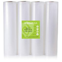 "Food Saver Bags Rolls 4 Pack 11"" x 25 Feet for Foodsaver, Se"