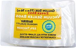 50 Gallon Size Zipper Vacuum Sealer Bags  OutOfAir Vacuum Se